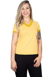 Camiseta 4As Manga Curta Sanfonada Amarela - Kanui