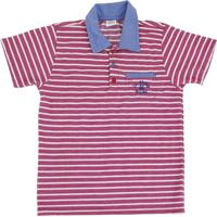 21e23bd89d Camisa Polo Lápis De Cor Em Piquet Listrado