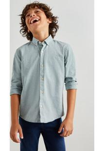 Camisa Mini Oxford Ml Reserva Mini Verde