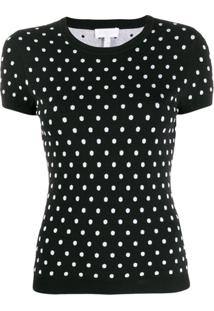 Escada Sport Polka-Dot Knit Top - Preto