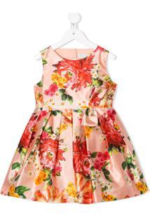 Abel & Lula Vestido Midi Com Estampa Floral - Rosa