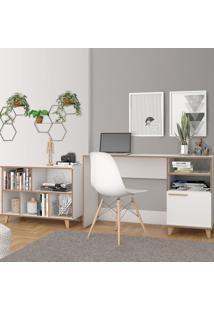 Escritório Completo Bko46 Branco - Brv Móveis
