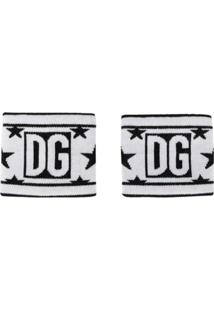 Dolce & Gabbana Munhequeira Com Estrela Dg - Preto