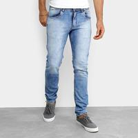 Calça Jeans Coffee Slim Fit Pesponto Masculina - Masculino-Azul Claro dd6953a37959e
