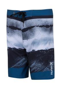 Bermuda Hurley Água Caos - Masculina - Azul Escuro