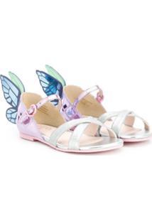 Sophia Webster Mini Sandália Butterfly - Prateado