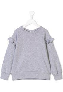 Kenzo Kids Suéter Com Babado - Cinza