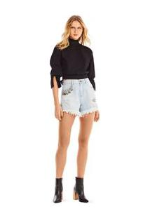 Shorts Five Pockets Abertura Lateral Jeans