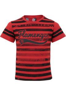 Camiseta Do Flamengo Player Feminina - Infantil - Vermelho