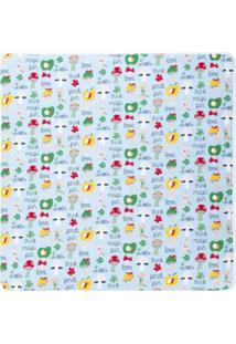 Fendi Kids Cobertor Estampado - Azul
