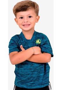 Camisa Esporte Legal Rajada Plank Infantil - Masculino-Azul+Preto
