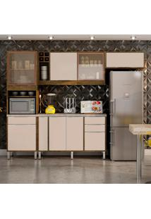 Cozinha Compacta Ágata 8 Pt 4 Gv Ypê E Off White
