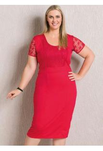 Vestido Midi Acinturado Vermelho Marguerite