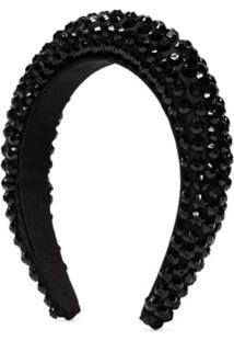 Maryjane Claverol Headband Carrier Com Aplicações - Preto