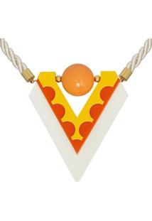 Colar Le Diamond Acrílico Amarelo - Kanui