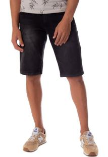 Bermuda Jeans Masculina Dixie Preto - 38