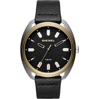 63eed853760 Relógio Diesel Analógico Aço Couro Masculino - Masculino-Preto+Dourado
