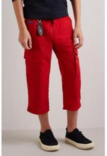 Calça Infantil Nylon Utilitaria Reserva Mini Masculina - Masculino-Vermelho