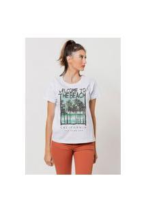 Camiseta Jay Jay Basica Welcome To The Beach Branca Dtg