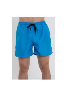 Bermuda Praia Short Masculino Suffix Com Bolsos Liso Azul Piscina