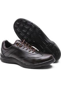 Sapato Social Confort Leve Versales 2677 Masculino - Masculino-Café