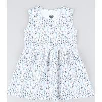 bd72285d2 CEA. Vestido Infantil Estampado Floral Sem Manga ...