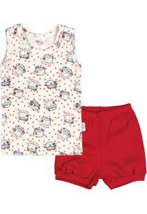 Conjunto Para Menina Elastico Floral infantil  2c0ab7c32a1