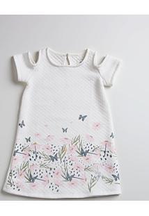 Vestido Infantil Open Shoulder Floral Marisa