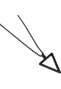 Colar Marshop Alongado Triângulo Negro