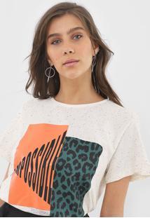 Camiseta Forum Estampada Off-White - Off White - Feminino - Algodã£O - Dafiti
