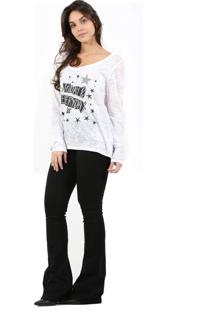 T-Shirt It'S & Co Devore Branca - Branco - Feminino - Dafiti