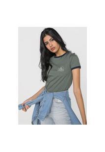 Camiseta Vans Ringer Verde