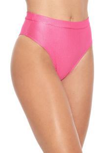 Calcinha Cia.Maritima Hot Pant Texturas Rosa