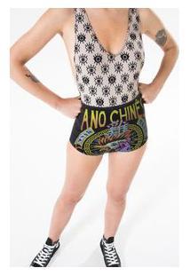 Hot Pants Ano Chinês Preto