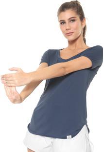 Camiseta Alto Giro Lisa Azul-Marinho