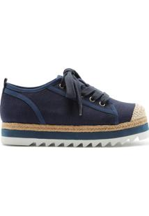 Sneaker Flatform Sporty Natural Blue | Schutz
