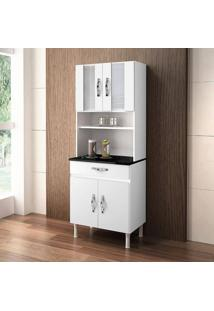 Cozinha Compacta Ventura 4 Portas Chf Branco