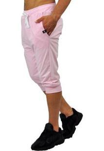 Bermuda Moletom Brohood Saruel Skinny Masculina - Masculino-Rosa