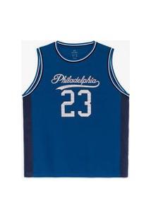 Camiseta Regata Esportiva Estampa Philadelphia | Get Over | Azul | M