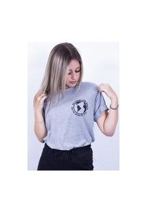 Camiseta Bilhan Corte A Fio Sorry For Whats Pqn Cinza