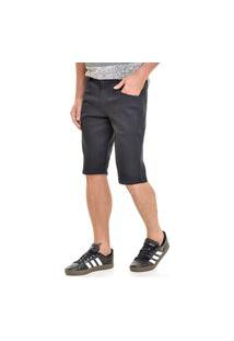 Bermuda Jeans Lemier Collection Slim Preta