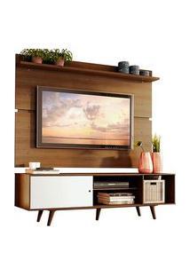 Rack Madesa Dubai E Painel Para Tv Até 65 Polegadas Com Pés Rustic/Branco 6E5Z Branco