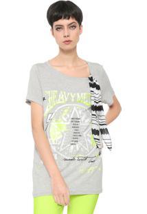 Camiseta My Favorite Thing(S) Estampada Cinza - Cinza - Feminino - Viscose - Dafiti
