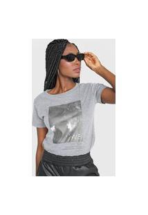 Camiseta Polo Wear Love Cinza