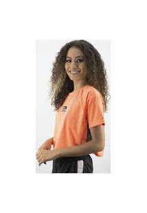 Camiseta Anjuss Cropped Laranja