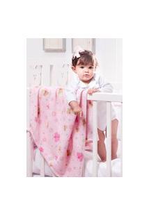 Cobertor Manta Bebê Infatil Manabana Microfibra Toque Macio