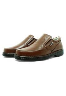 Sapato Masculino Confortavel Em Couro Havana 311
