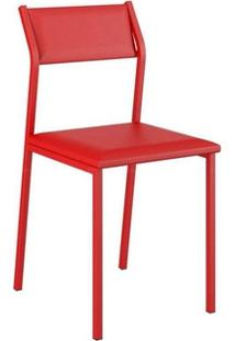 Cadeira Carraro 1709 Aço 6 Unidades Vermelho