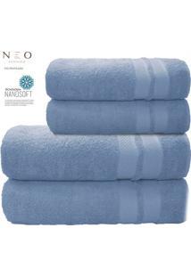 Toalha De Banho Gigante Neo Allure- Azul Claro- 80X1Camesa