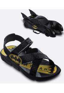 Sandália Infantil Batman Brinde Grendene Kids